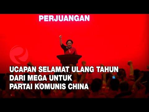 Ucapan Selamat Ulang Tahun dari Mega untuk Partai Komunis China