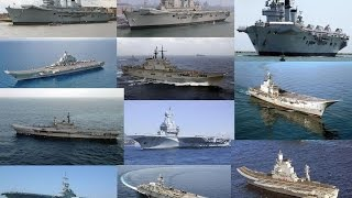 Aircraft carriers by countries. A detail comparison of Top countries.