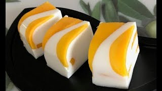 香芒濃情 [ 芒果椰汁糕 ] how to make mango coconut pudding