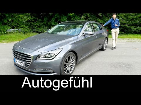 New Hyundai Genesis luxury sedan FULL REVIEW test driven 2016 - Autogefühl