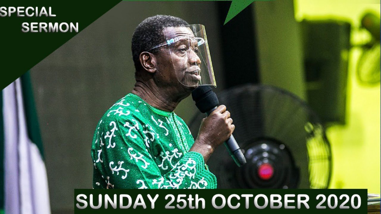 RCCG Sunday Service 25th October 2020 by Pastor E. A. Adeboye - Livestream