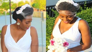 Easy Vintage Wedding/Bridal Natural Hair Style Collab w/ MissT1806 + Chronicurls. || VeePeeJay