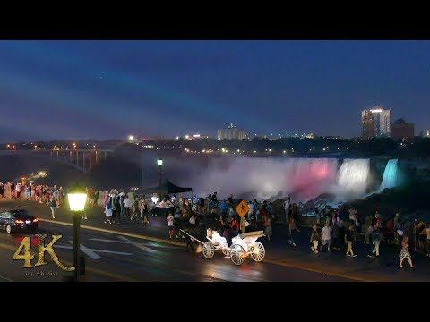 Niagara Falls: One hour 4K footage of the majestic falls viewed from...