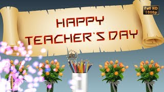 Happy Teachers Day 2020,Wishes,WhatsApp Video,Greetings,Animation,Message,Quotes,Download