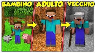 LA VITA DI NOOB DA BAMBINO A VECCHIO! - Minecraft ITA