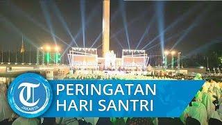 Malam Puncak Peringatan Hari Santri 2019, Selawat Bergema di Lapangan Banteng