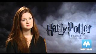 Bonny Wright - Бонни Райт, Bonnie Wright (Ginny Weasley) talks HARRY POTTER & her engagement to Jamie Campbell Bower