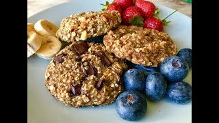 Healthy oatmeal cookies | Quick and easy banana oatmeal cookies