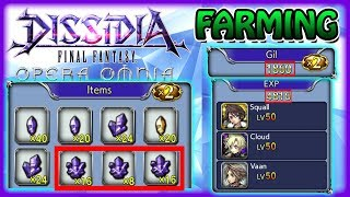 Fastest Way To Get EXP, Crystals, & Gil  ~ Dissidia Opera Omnia