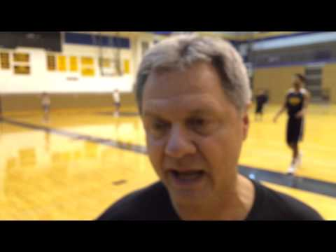 South Bend Riley coach Mark Johnson talks about free throws