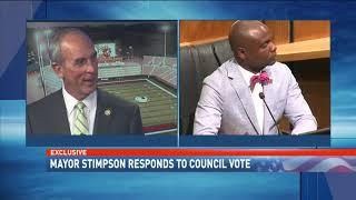 EXCLUSIVE: Watch Mayor Sandy Stimpson react to USA stadium downvote - NBC 15 News, WPMI
