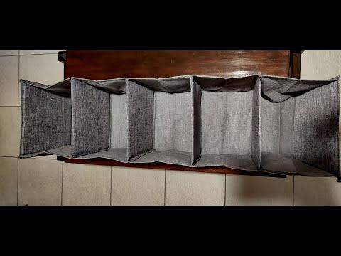 Banggood Cotton Linen Hanging Closet Organizer Foldable Storage
