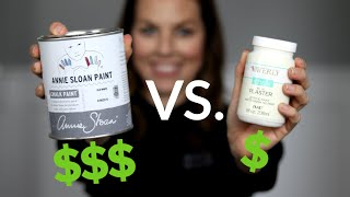 Annie Sloan Chalk Paint Vs. Waverly Chalk | Premium Vs. Walmart Bargain Chalk Paint