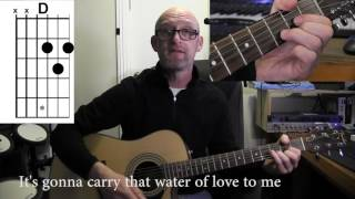 DIRE STRAITS - WATER OF LOVE. Acoustic rhythm guitar TUTORIAL/cover