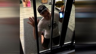 Fitness Instructor Goofs Around Being Locked In a FedEx Store for 2 Hours