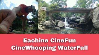 Eachine CineFun HD Cinewhoop FPV Whooping beautiful waterfall