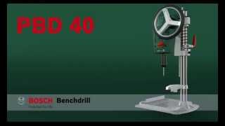 Benefits of: The Bosch PBD 40 Bench Drill