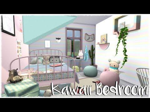 The Sims 4: Speed Build // Kawaii Bedroom + CC links