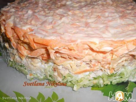 Салат Мужской каприз с курицей  Рецепт салат