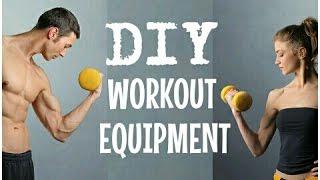 HOW TO MAKE DUMBBELLS & BARBELLS  | Cheap Easy Workout Hacks | DIY FREE WEIGHTS | Cheap Tip #219