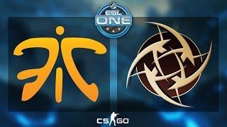 CS:GO - Fnatic vs. NiP [Cache] - ESL One 2015 Katowice - Grand Final - Map 2