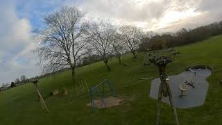 Practice Fpv session with transtec Beetle HD in the park. early morning flight.