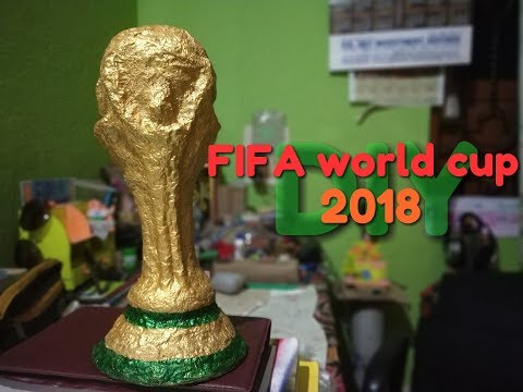 How to make FIFA world cup 2018 trophy out of  paper || The world cup song || Rudra DIY Crafts