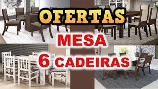 MAGAZINE LUIZA OFERTAS DE MESA DE JANTAR 6 CADEIRAS - ACHADOS 2020 MESA 6 CADEIRAS