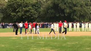 PM Justin Trudeau , Son And Daughter Playing Cricket At Delhi's Modern School