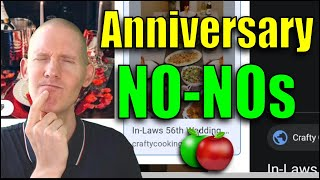 🍏 Top 10 Things NOT To Say On Your Anniversary | Online Article