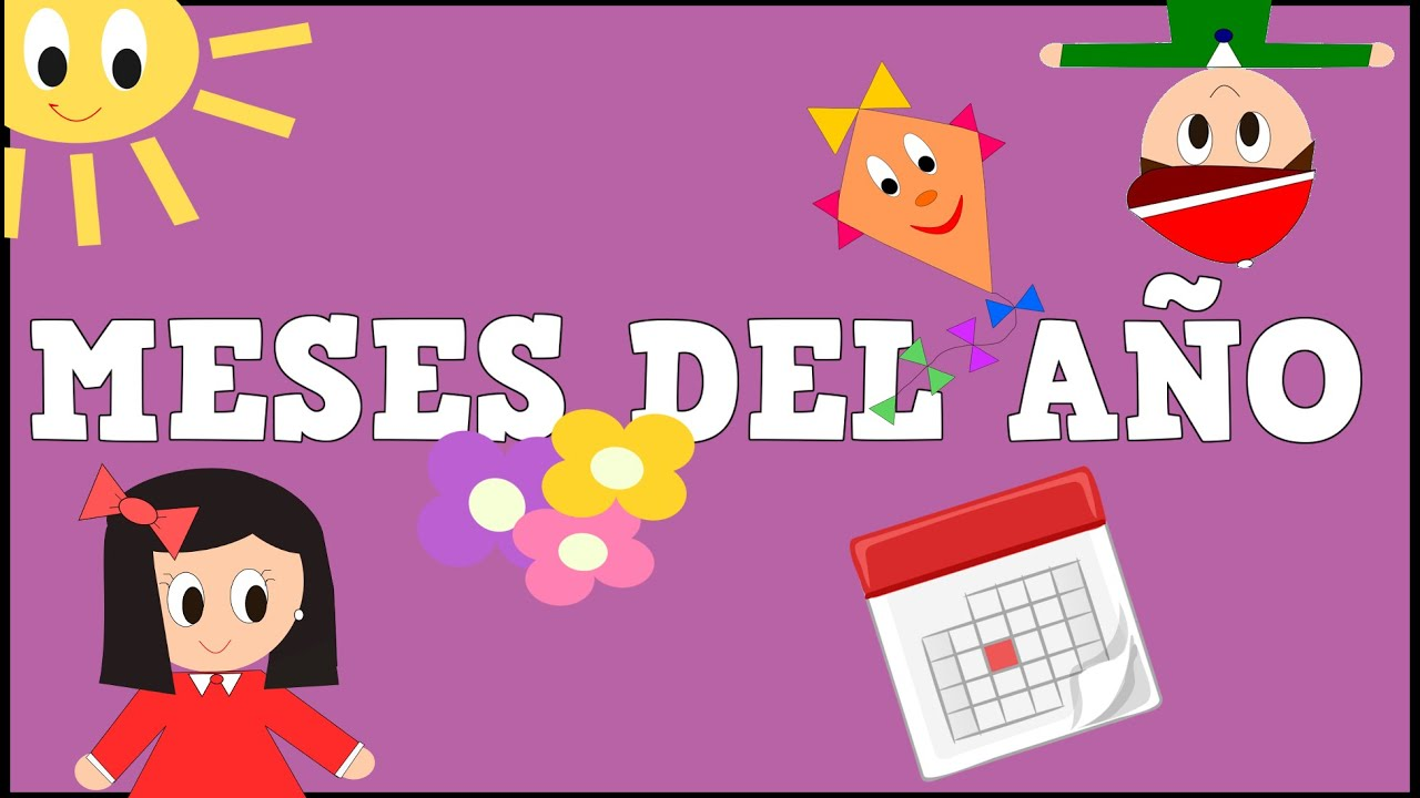 Los Meses del Año - Months of the Year in Spanish for Kids -Vídeos educativos