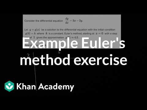 Worked example: Euler's method   Differential equations (video