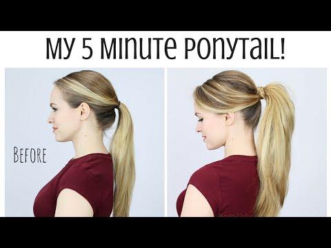 Super cute 5 minute ponytail tutorial