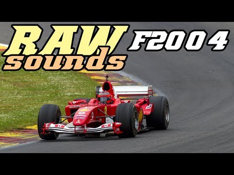 RAW sounds - Ferrari F2004 flat out at Spa