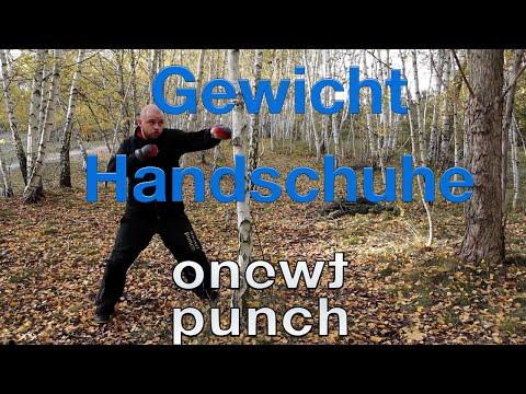 One Two Punch Test Gewicht Handschuhe Hand Gewichtmanschetten 0,5kg Kickboxen