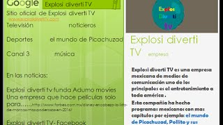 Explosi Diverti TV (Presentacion Power Point)