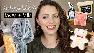 NOVEMBER FAVORITES + FAILS / Makeup, Lifestyle + Fashion