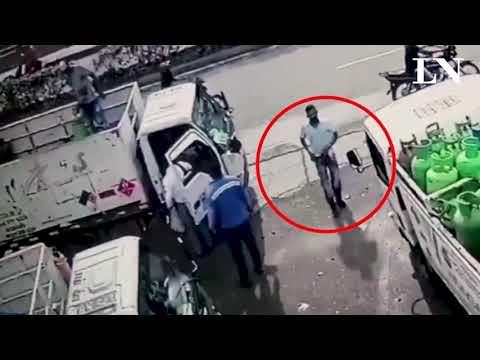 Video: Impide un asalto tirándole al ladrón una garrafa en la cabeza