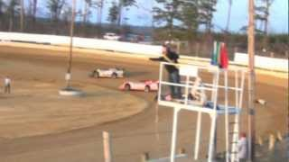 preview picture of video 'Jackson County Speedway (OH) AMRA Late Model feature highlights 3-23-2013'