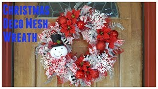 Tricias Creation: Christmas Deco Mesh Wreath Dollar Tree