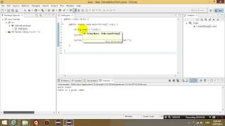 Java Programming with Eclipse lesson 3 - String Variables