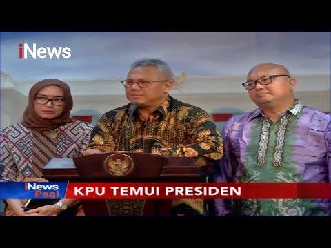 KPU Serahkan Hasil Laporan Pelaksanaan Pemilu ke Jokowi - iNews Pagi 12/11
