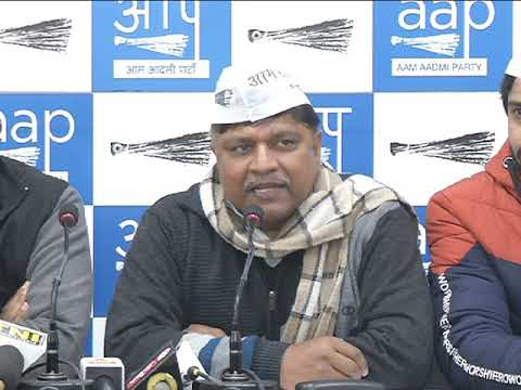 Aap press brief on Condemning Dalit atrocities in different parts