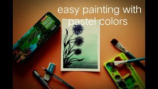 Flower painting with pastel colours background ||step by step||weekly creation
