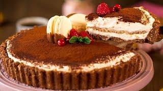 """Тарт """"Тирамису"""" - чудесный десерт без выпечки, который оценят все!   Appetitno.TV"""