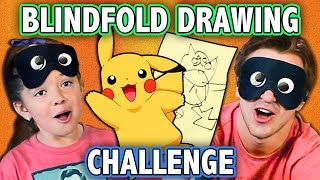 BLINDFOLD DRAWING CHALLENGE! (ft. KIDS REACT Cast) | Challenge Chalice