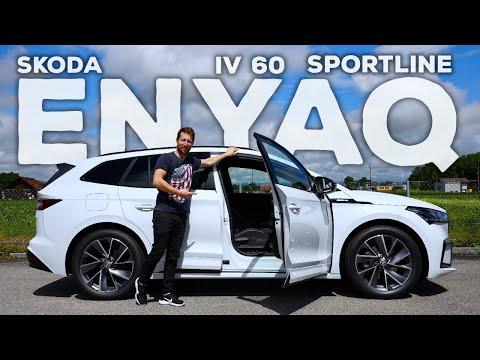 New Skoda Enyaq iV 60 Sportline 2021 Review Interior Exterior