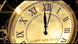 YouTube video E-card Happy New Year Clock New Years Clock every Years with Fireworks in