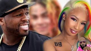 50 Cent And Meek Mill Throw Shade At 6ix9ine Girlfriend New Tattoo And Hair