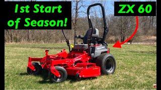 """Beginner tutorial Zero turn Mower - """"1st start of season Prep"""" - GRAVELY!"""